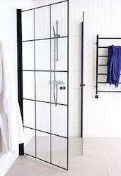 Lusso duschhörna (rak med handtag 2) 90X90 Svart
