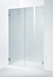 Möja duschdörr Frostat blanka