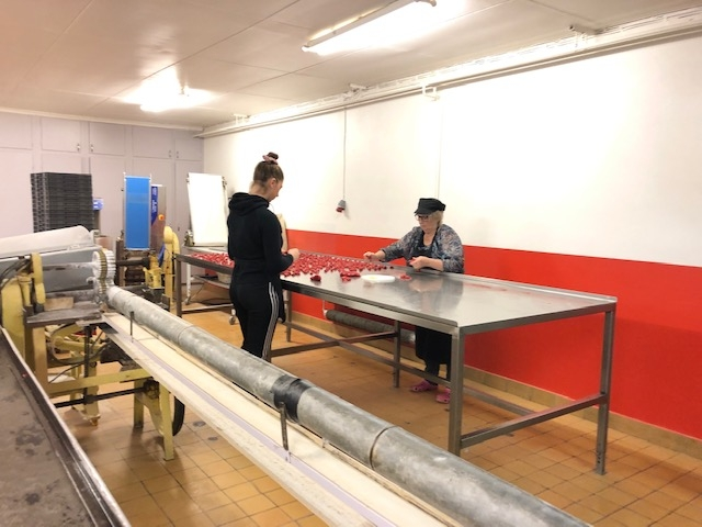 Besökte Råsnäs konfektyr fabrik.