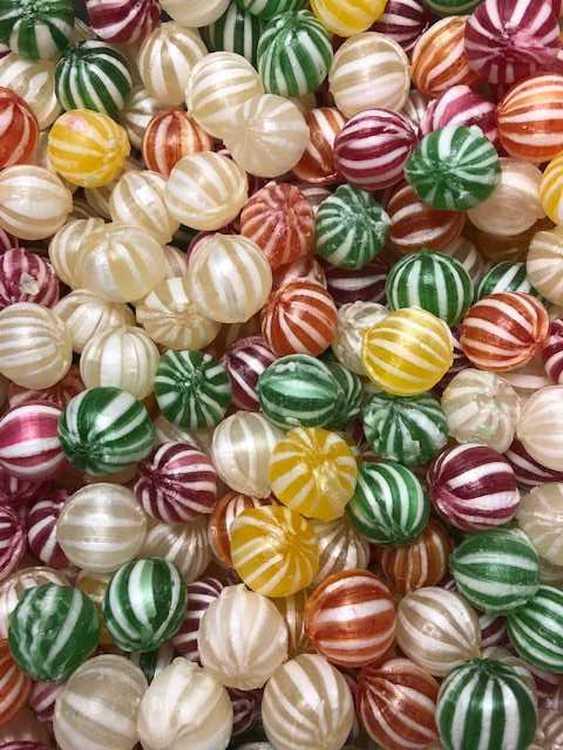 Frukt kulor karameller