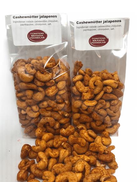 Cashewnötter Jalapenos