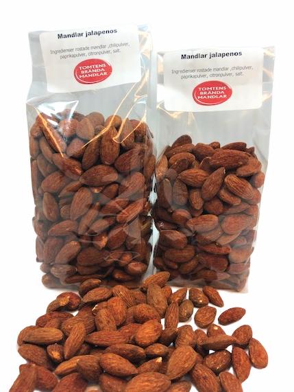 Rostade mandlar jalapeños  300 gram eller 180 gram. - 300 gram