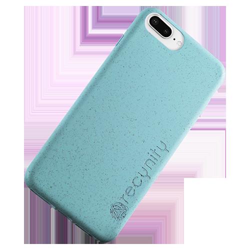 iPhone 8 Plus - Miljövänliga mobilskal blått