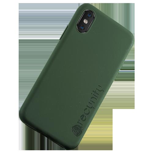 iPhone X  - Miljövänliga mobilskal grönt