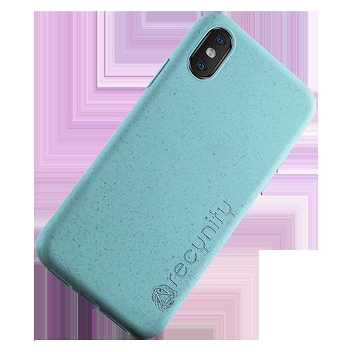 iPhone X  - Miljövänliga mobilskal blått
