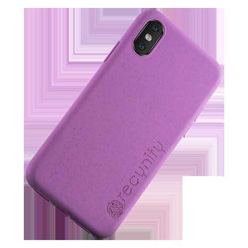 iPhone X  - Miljövänliga mobilskal lila