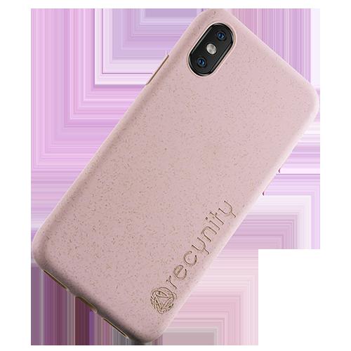 iPhone X  - Miljövänliga mobilskal rosa