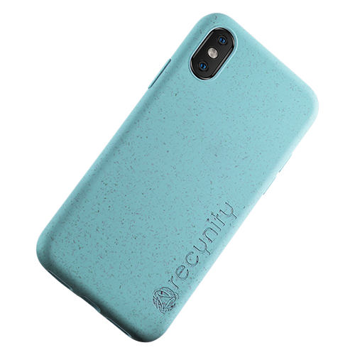 iPhone XS  - Miljövänliga mobilskal blått