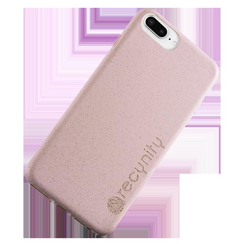 iPhone 8 Plus - Miljövänliga mobilskal rosa