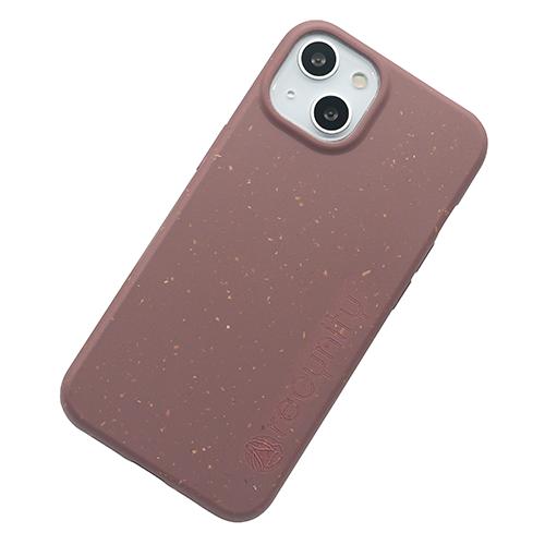 iPhone 13 mini - Miljövänliga mobilskal mörk rosa