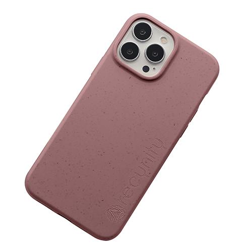 iPhone 13 Pro max miljövänligt mobilskal mörk rosa