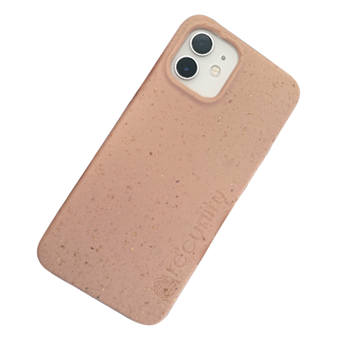 iPhone 12 mini - Miljövänliga mobilskal rosa