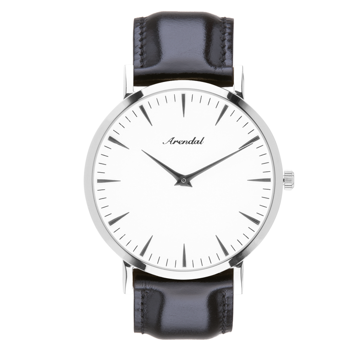 e3d5d76fb42cf1 White Silver Leather - Arendal Watches