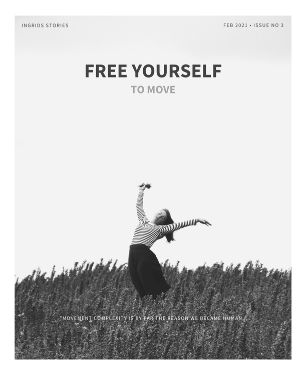 """Poster """"Free yourself to move"""""""