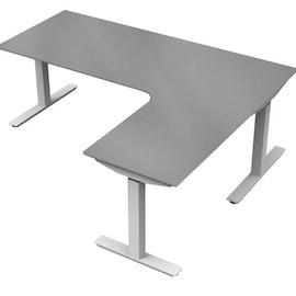Montering av 3-pelare elektriskt skrivbord + bordsskiva
