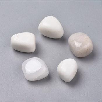 Jade vit/beige | Tumlad sten