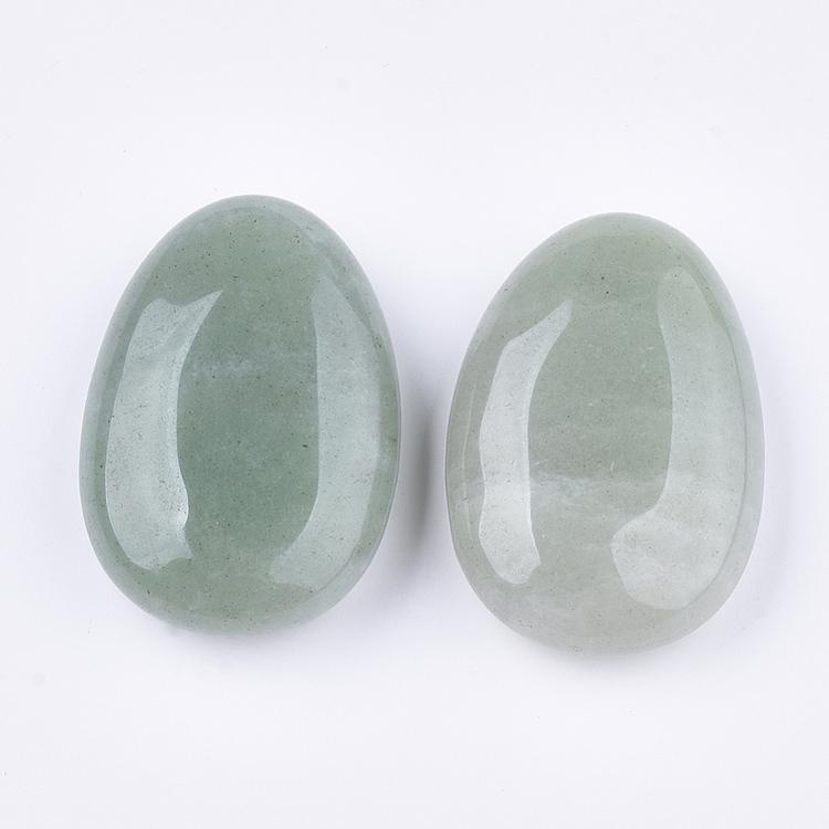 Grön aventurin | Oval sten