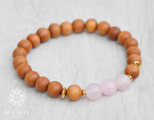 Sandalwood x Rose Quartz Armband