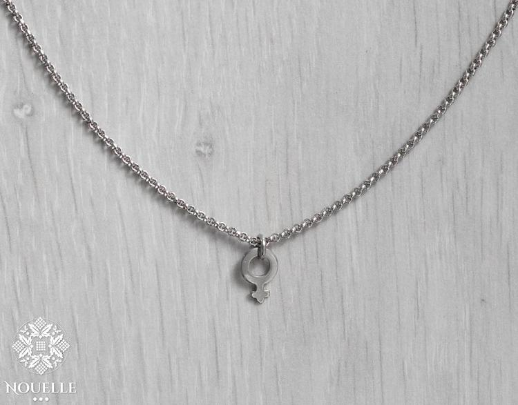 Halsband - Kvinnosymbol Stål
