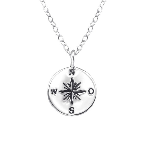 Silverhalsband - Kompass