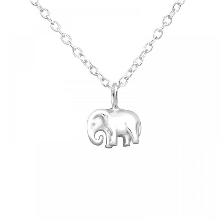 Silverhalsband - Elefant