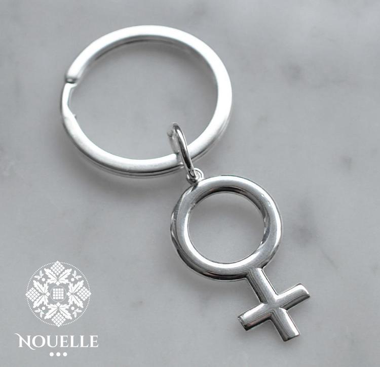 Nyckelring - Stor kvinnosymbol