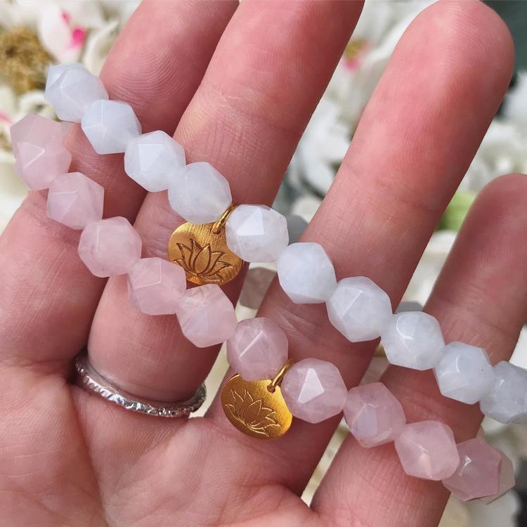 Lotus Armband - Akvamarin