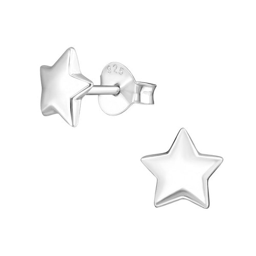 Örhängen Stjärna Silver