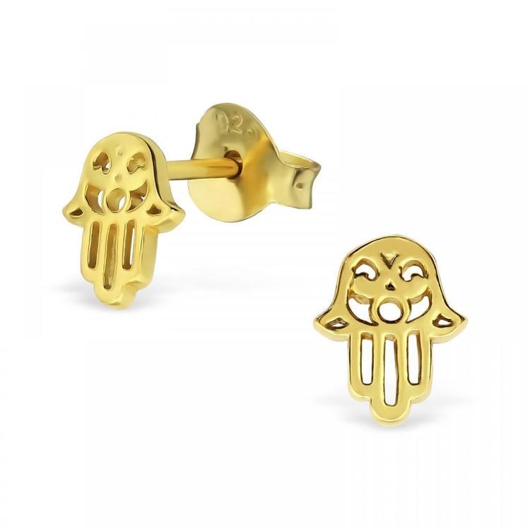 Örhängen Hamsa Guld