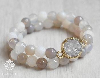 Agate Armband