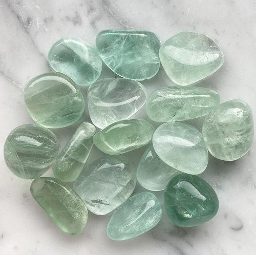 Grön fluorit | Tumlad sten