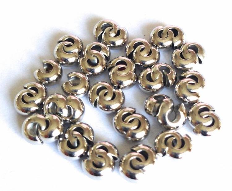 Antikfärgade knutgömmor 4 mm, 20 st