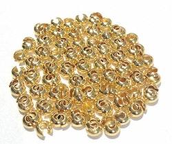 Guldfärgade knutgömmor 5 mm, 20 st