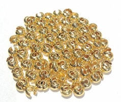 Guldfärgade knutgömmor 3 mm, ca 100 st