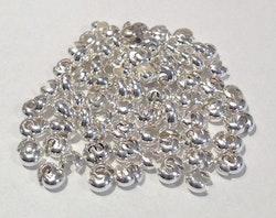 Silverfärgade knutgömmor 4 mm, ca 100 st
