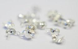 Silverfärgade knutgömmor med liten ögla, 200 st