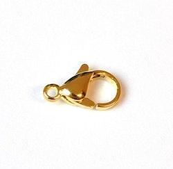 Guldfärgat rostfritt stål klolås 12 mm, 1 st