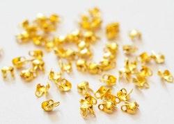 Guldfärgat rostfritt stål kulkedjefästen 1.5 mm, ca 10 st