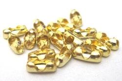 Guldfärgat rostfritt stål kullås 1.5 mm, 10 st