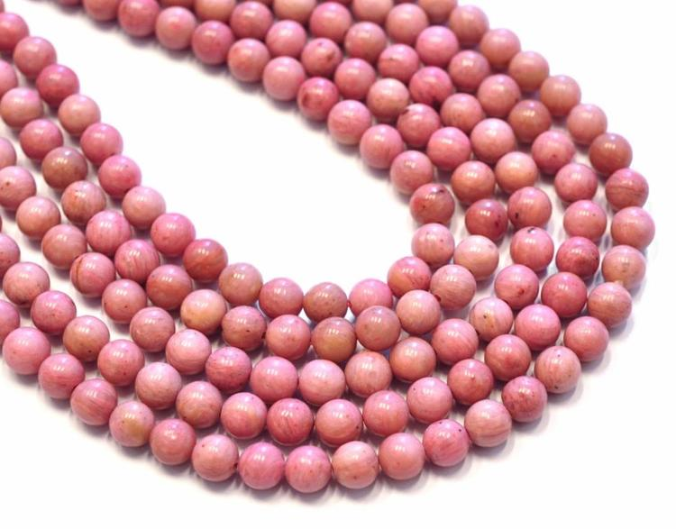 Rodonit rosamelerad 2 mm, 1 sträng
