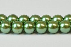 Vaxade glaspärlor 3 mm oliv, 1 sträng