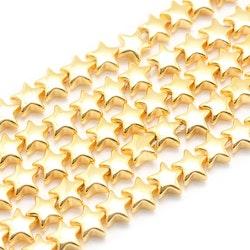 Ljust guldfärgad hematit, stjärnor 8 mm, 10 st