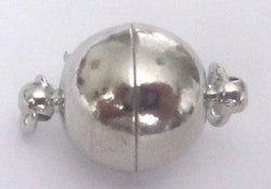 Antikfärgat magnetlås rund 10 mm, 1 st