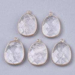 Guldfärgat hänge bergkristall, 1 st
