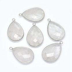 Antikfärgat hänge bergkristall, 1 st