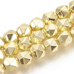 Guldfärgad hematit 7-8 mm star cut, 10 st
