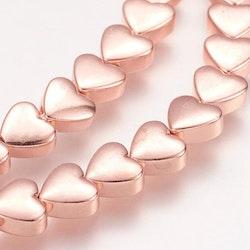Roséfärgad hematit, hjärtan, 10 st