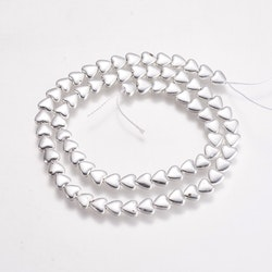 Silverfärgad hematit, hjärtan, 10 st