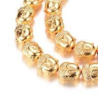 Guldfärgad hematit, Buddha, 1 st
