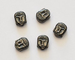 Svartfärgad hematit Buddha, 10 st